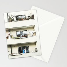 Looking at the neighbor. Stationery Cards