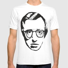 Woody Allen White Mens Fitted Tee SMALL