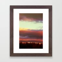 stumble in the morning Framed Art Print