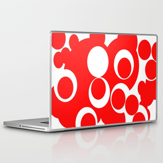 red circles Laptop & iPad Skin