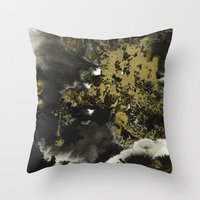 Black And Gold II Throw Pillow