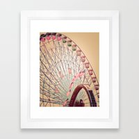 Biggest Wheel in Texas Framed Art Print