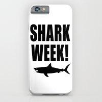 Shark week (on white) iPhone 6 Slim Case