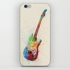 Electric Guitar Abstract Watercolor iPhone & iPod Skin