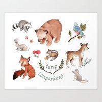 Camp Companions Art Print