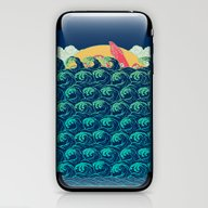 Squid On The Waves iPhone & iPod Skin