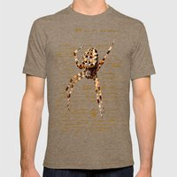Spider Letter Mens Fitted Tee Tri-Coffee SMALL
