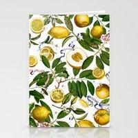 LEMON TREE White Stationery Cards