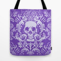 Skull Damask Tote Bag
