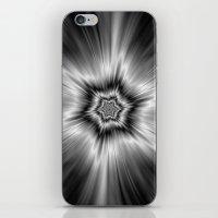 Black And White Star Bur… iPhone & iPod Skin