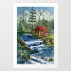 Peaceful Cabin Art Print