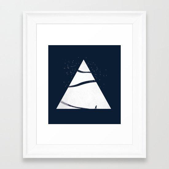 time to snow! Framed Art Print