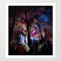 Wolf In The Forest Art Print