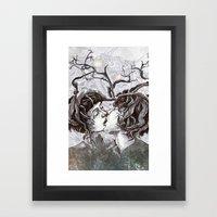 Bird Sings in The Apple Tree Framed Art Print