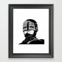 Robocop (b/w) Framed Art Print