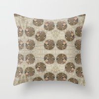 Honeybee Pattern Throw Pillow