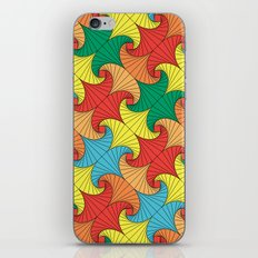 Dancing squares iPhone & iPod Skin