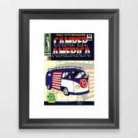 Camper America Framed Art Print