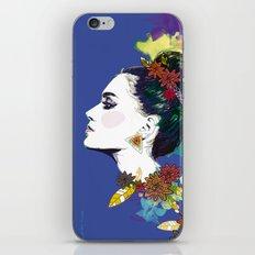 Blue Bun  iPhone & iPod Skin