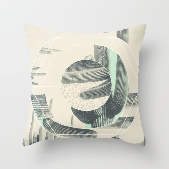 Saguaro Sun Throw Pillow