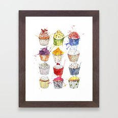 Cupcakes Galore! Framed Art Print