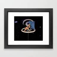 Chillin At The Space Sta… Framed Art Print