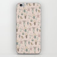 Children Playing-on Peach iPhone & iPod Skin