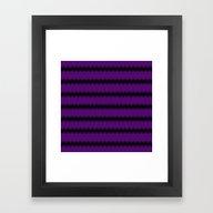 Black Lacey Pattern On P… Framed Art Print