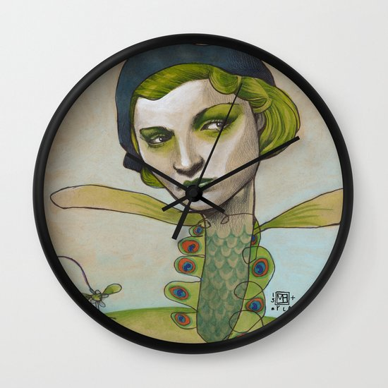 PRETTY'S ON THE INSIDE Wall Clock