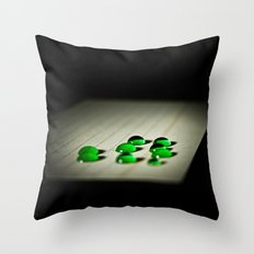 Emerald Rain Throw Pillow