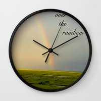 Somewhere Over the Rainbow Wall Clock