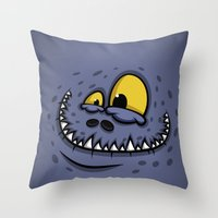 TEETH MONSTER Throw Pillow