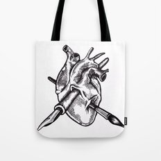 Heart of an artist Tote Bag
