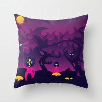 Night Of The Forest Spir… Throw Pillow