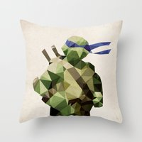 Polygon Heroes - Leonard… Throw Pillow