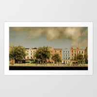 Dublin By Day Art Print