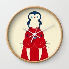 Penguin & Walrus Wall Clock