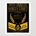 74th annual hunger games poster Art Print