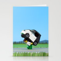 Dead Battery Stationery Cards
