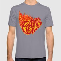 Down in Flames Mens Fitted Tee Slate SMALL