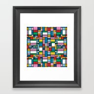Framed Art Print featuring Map Outline by Project M