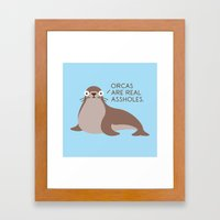 Seal Of Reproval Framed Art Print