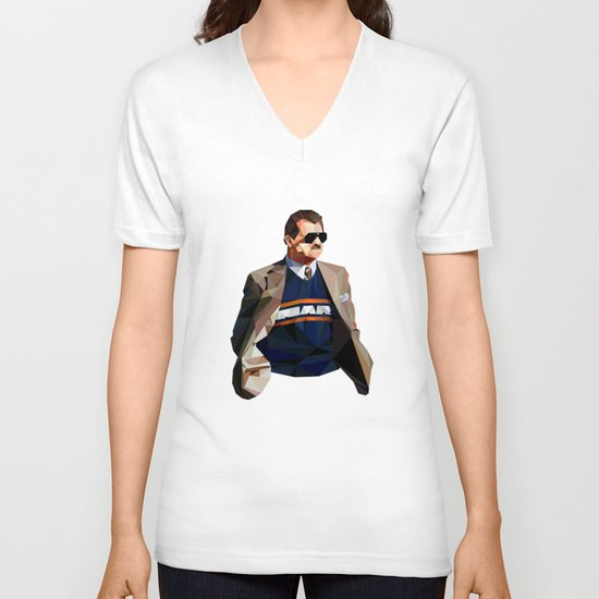 Geometric Ditka V-neck T-shirt