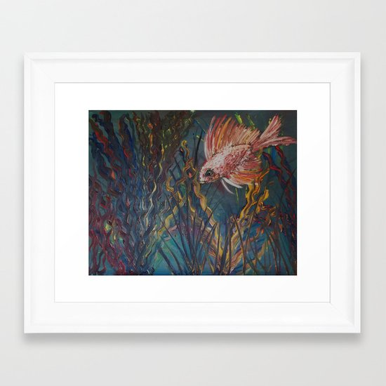 Something is Fishy Framed Art Print