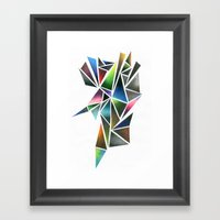 Digital Stone Framed Art Print