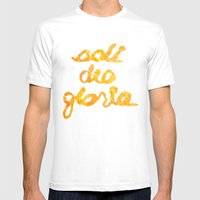 SOLI GOLD- SDG Mens Fitted Tee White SMALL