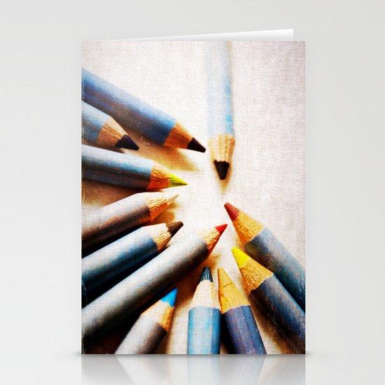 Pencils Stationery Card