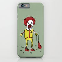 iPhone & iPod Case featuring Sad Ronald McDonald In A Field by Squireseses