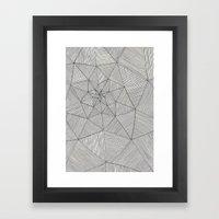 Web Pattern Framed Art Print