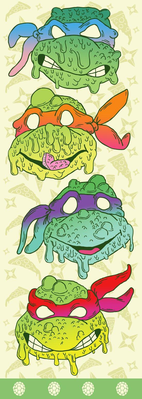 Teenage (a Little Too Mutated) Ninja Turtles Art Print